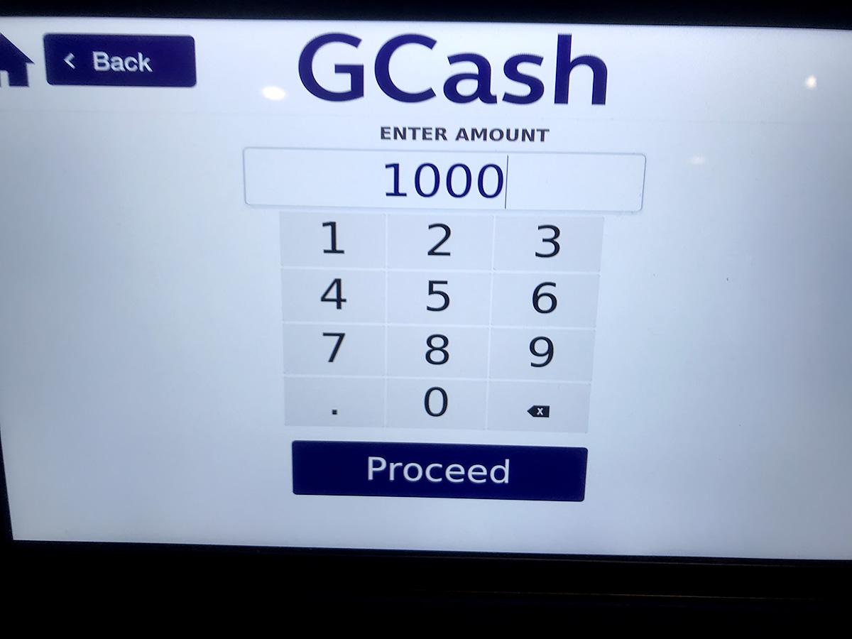 GCash金額入力