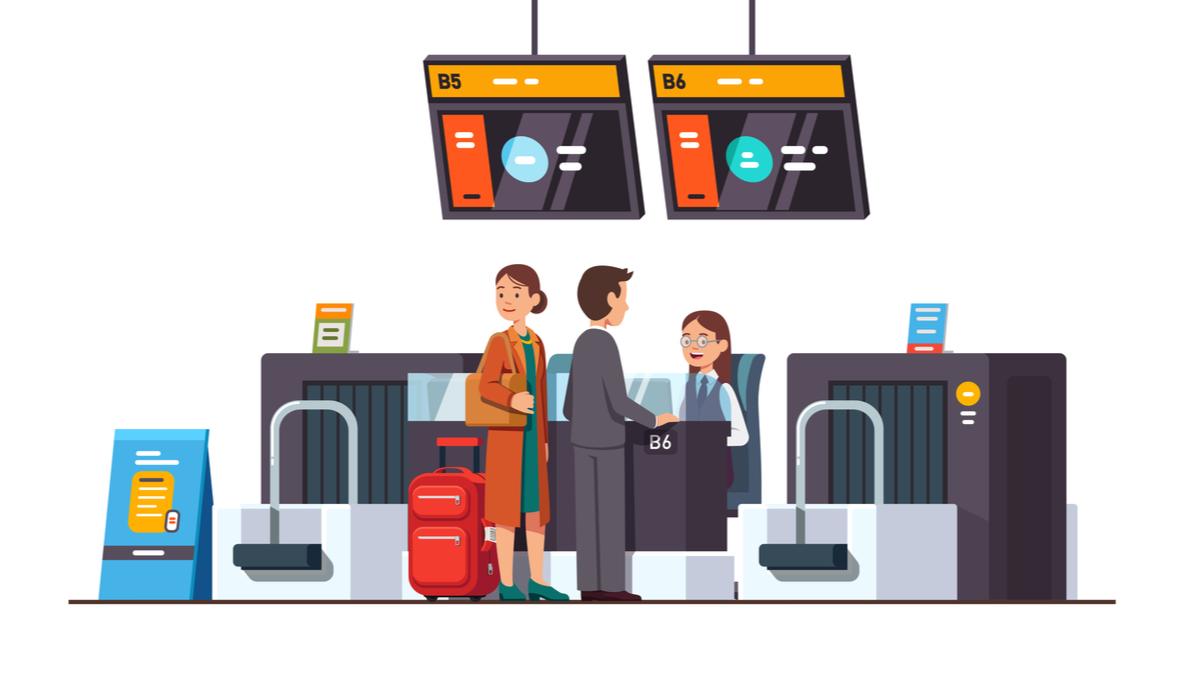 マクタン・セブ国際空港のチェックインカウンター