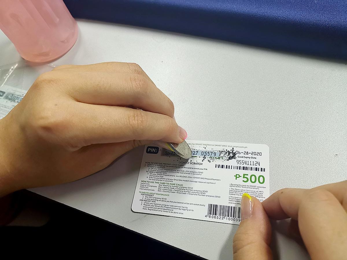 smart社のロードカードを削る