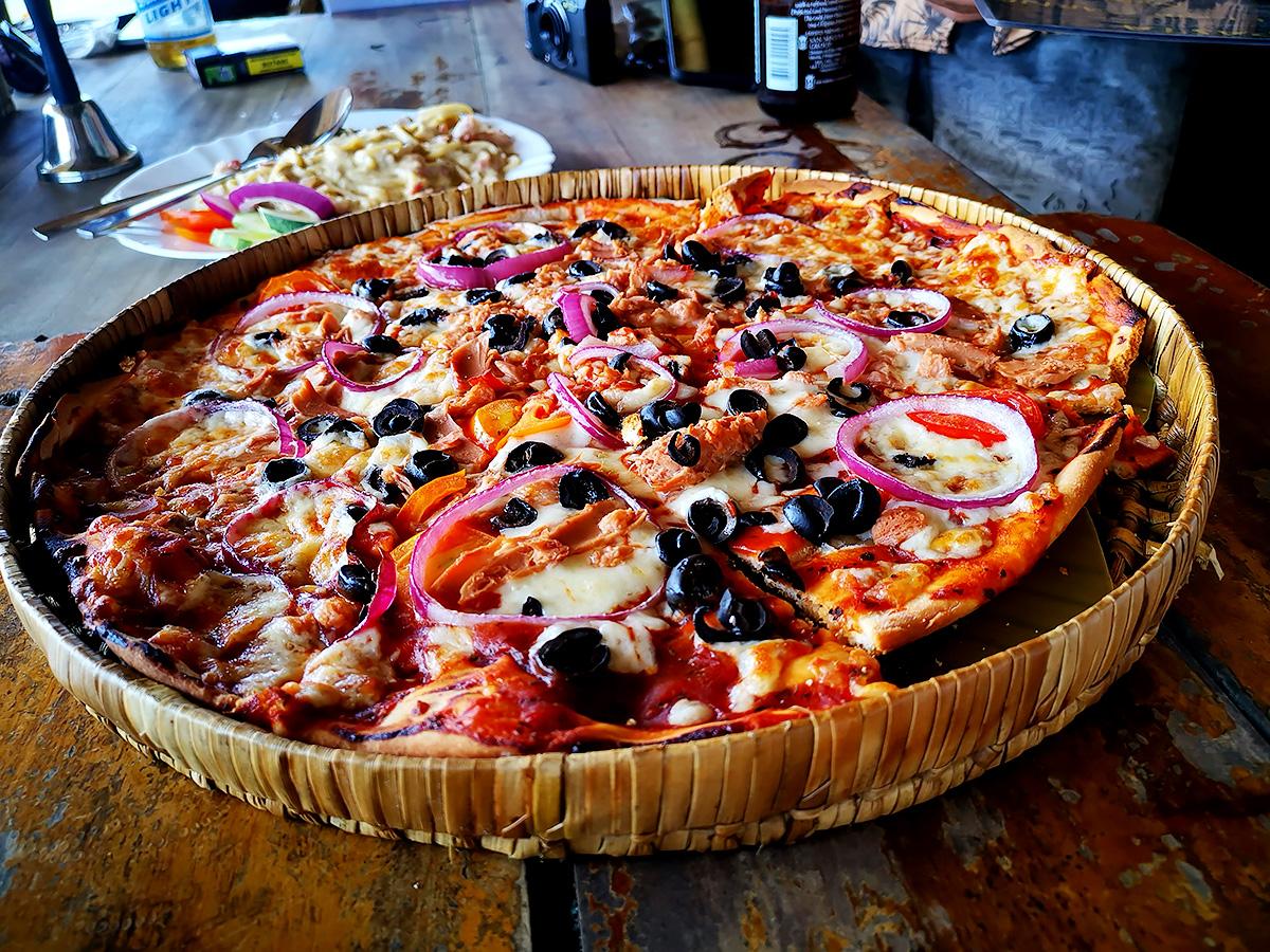 パナグサマビーチ ピザ