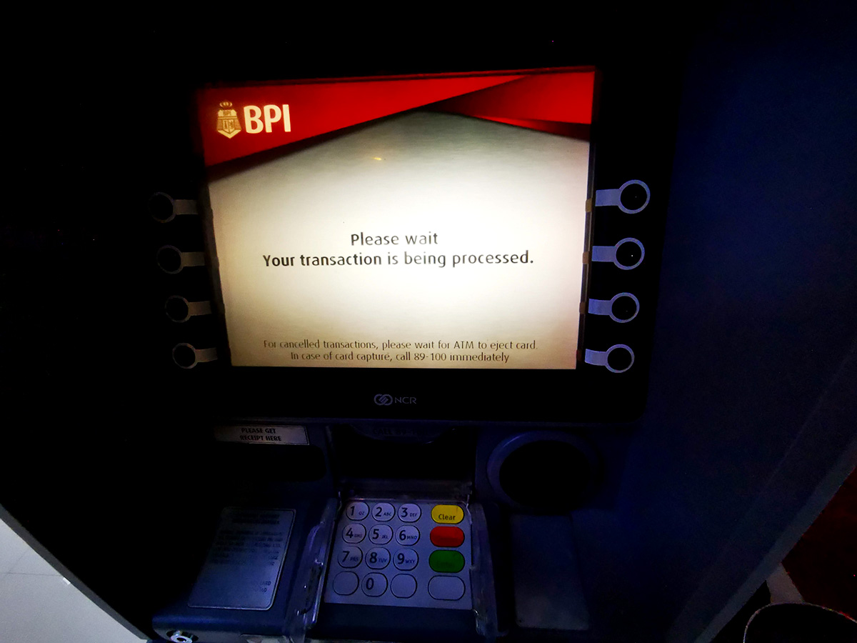 フィリピン・ATMの使い方